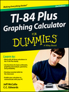 Ti-84 Plus Graphing Calculator For Dummies (eBook)